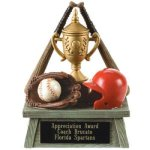 Vintage Trophy Award Baseball 3D Resin Trophy Awards