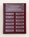 Rosewood High Gloss Perpetual Plaque Achievement Awards