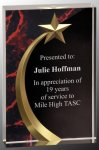 Red Marble Shooting Star Acrylic Achievement Awards