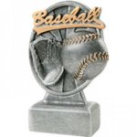 Pinwheel Script Baseball Resin Baseball Trophy Awards