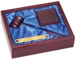 Gavel Set Blue Liner Boss Gift Awards