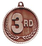 High Relief Medal -3rd Place  Bowling Trophy Awards