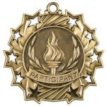 Ten Star Medal -Participant Boxing Trophy Awards