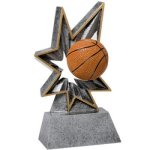 Basketball Bobble Resin BR Resin Trophy Awards
