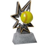 Softball Bobble Resin BR Resin Trophy Awards