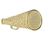 Megaphone Chenille Pin Cheerleading Trophy Awards