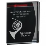 Lustre Acrylic Stand-Up Colored Acrylic Awards