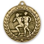 Wreath Award Medallion -Cross Country Cross Country Trophy Awards