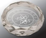 Faceted Round Crystal Paper Weight Diamond Awards