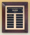 Cherry Finish Wood Frame Perpetual Plaque Employee Awards