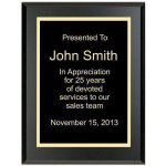 Matte Black Recognition Plaque Employee Awards