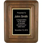 Floating Solid Walnut Plaque Employee Awards