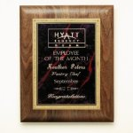 Walnut Plaque Employee Awards