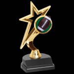 Gold Star Trophy -Football Figure on a Base Trophies