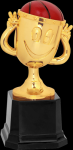 Happy Cup Trophy -Basketball Figure on a Base Trophies