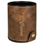 Leatherette Dice Cup Set -Rustic/Gold Game Gifts