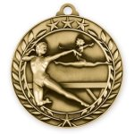Wreath Award Medallion -Gymnastics Female Gymnastics Trophy Awards