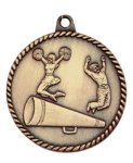 High Relief Medal -Cheer  High Relief Medallion Awards