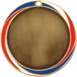 Red, White And Blue Swirl Insert Medal Insert Medallion Awards