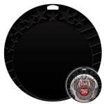 Black Star Insert Medal Insert Medallion Awards