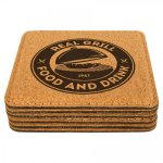 Cork Square Coasters Kitchen Gifts