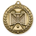 Wreath Award Medallion -Lacrosse Lacrosse Trophy Awards