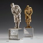 Bobby Jones Green Metal Trophies
