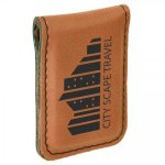 Leatherette Money Clip -Rawhide Misc. Gift Awards