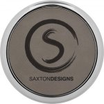 Leatherette Round Coaster with Silver Edge -Gray  Misc. Gift Awards