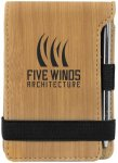 Leatherette Notepad/Pen -Bamboo Misc. Gift Awards