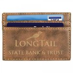 Leatherette Wallet Clip -Rustic/Gold Misc. Gift Awards
