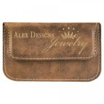 Leatherette Soft Business Card Holder -Rustic/Gold Misc. Gift Awards
