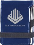 Leatherette Notepad/Pen -Blue/Silver Misc. Gift Awards