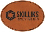 Leatherette Patch with Adhesive Back -Rawhide Misc. Gift Awards