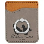 Leatherette Phone Wallet with Ring -Gray Misc. Gift Awards