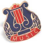 Music Lapel Pin Music Trophy Awards