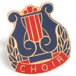 Choir Lapel Pin Music Trophy Awards