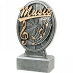 Pinwheel Script Music Resin Music Trophy Awards