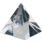 Crystal Pyramid Paperweight Paper Weight Crystal Awards