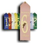 Swimming - 6th Place Peaked Top Award Ribbons