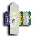 Swimming - 3rd Place Peaked Top Award Ribbons