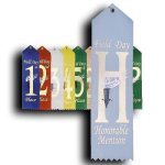 Field Day - Honorable Mention Ribbon Peaked Top Award Ribbons