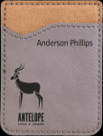 Leatherette Phone Wallet -Gray Phone & Tablet Cases
