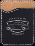Leatherette Phone Wallet -Black/Silver Phone & Tablet Cases