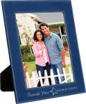 Leatherette Picture Frame -Blue/Silver Photo Gift Items
