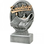 Pinwheel Script Lamp Of Knowledge Resin Pinwheel Script Resin Trophy Awards