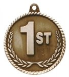 High Relief Medal-1st Place Poker Trophy Awards