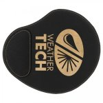 Leatherette Mouse Pad -Black/Gold Promotional Mouse Pads