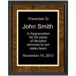 Ultra Gloss Walnut Recognition Plaques