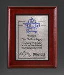 Cherry Finish Panel; Silver Tone Plate Recognition Plaques
